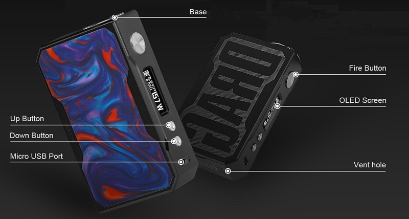 VooPoo Drag 157W TC Resin Edition Review: Special Features